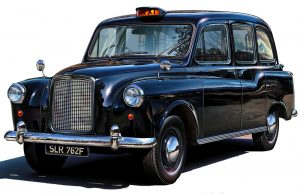 Change your brain - photo of a black cab to demonstrate how the knowledge exam changes drivers brains