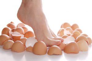 Depression: Walking on egg shells